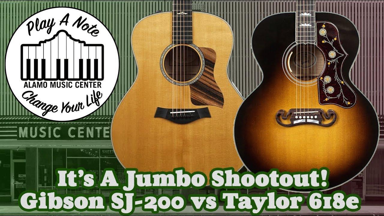 Gibson SJ 200 vs Taylor 618e – It's A Jumbo Shootout! – Acoustic Guitar Comparison – New For 2019