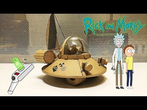 Rick and Morty UFO Space Cruiser from cardboard and light bulb\Amazing toy DIY
