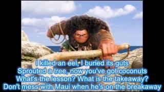 "Maui ""You're Welcome"" with Lyrics"