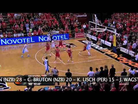 Breakers - Game Two - 2011/12 NBL Championship Perth Wildcats v New Zealand Breakers Challenge Stadium 20 April 2012.