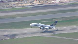 Video Beautiful Singapore Airlines A380 Take off sunset at Hong Kong with ATC MP3, 3GP, MP4, WEBM, AVI, FLV Februari 2019
