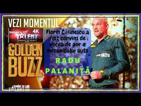 Românii au talent! GOLDEN BUZZ   Radu Palaniţă, mecanicul auto cu VOCE DE AUR! 4K Ultra HD