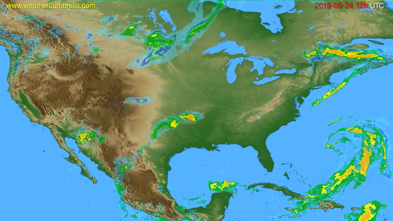Radar forecast USA & Canada // modelrun: 00h UTC 2019-09-24
