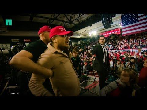 Trump Supporter Attacks Cameraman At El Paso Rally
