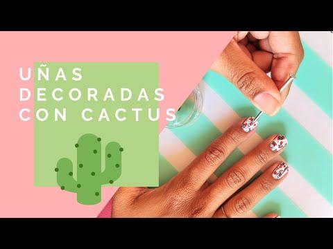 Decorados de uñas - [Nuevo] Uñas decoradas con diseño de cactus