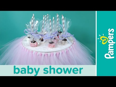 Princess Baby Shower Ideas: Chocolate Brownie Cake Pops   Pampers