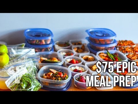 FitMenCook $75 Epic Meal Prep: Bodybuilding Budget / Prep de Comida de $75