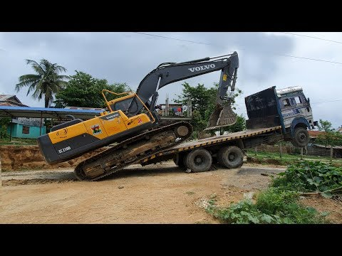 Amazing Video ! Volvo Excavator Loading in Truck By Experience Driver - Dozer Video