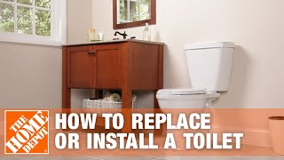 How to Replace or Install a Toilet | Bathroom Renovation | The Home Depot