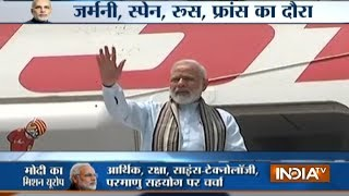 PM Modi departs for Berlin,on his six-day, four-nation tour of Germany, Spain, Russia and France