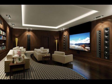 Living room home theater room design ideas (видео)