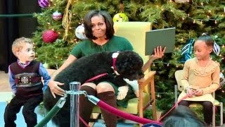 Download Lagu Michelle Obama and Bo The Dog - Hilarious Mp3