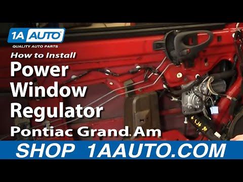 How To Install Replace Power Window Regulator Pontiac Grand Am Olds Alero 99-06 – 1AAuto.com