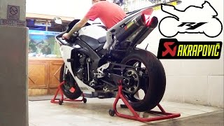 8. Yamaha R1 2011 Exhaust Akrapovic Carbon Sound (istimewa)
