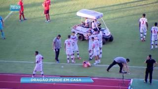 Campeonato Brasileiro. O dragão até que dominou o jogo, teve os melhores momentos e até penalti a seu favor, mas perdeu...