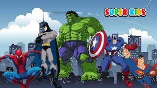 Video Türkçe süper kahraman şarkılar Örümcek Adam Hulk Batman PARMAK AILESI Baba parmak - çocuk şarkıları MP3, 3GP, MP4, WEBM, AVI, FLV November 2018
