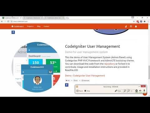 CodeIgniter Admin Panel Demo