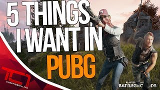 """5 Things I Want In PlayerUnknowns BattleGrounds - PUBG WISHLIST 2017. Today we talk about some things i would like to see introduced into pubg or playerunkowns battlegrounds. What are some things you would like to see added into pubg, let me know in the comments below.Best Place to buy cheap csgo skins is   https://www.rpgah.com/, Use code""""JOB""""get a 3% discount!GIVEAWAY - https://gleam.io/LXWRt/win-awp-hyperbeast-ft★ Patreon - https://goo.gl/cZcV7R★ 2nd Channel - https://goo.gl/RyvCmn★Snacphat - TheChosen1inc★Instagram - https://goo.gl/cv1hvL★Twitch - http://goo.gl/kRBgH2★Twitter - https://goo.gl/xUmcOE★Steam Group - http://goo.gl/Radyih (Join For Updates)★Intro Song - https://goo.gl/L8qshP★Outro Song - https://goo.gl/sPD2Q1★Config - http://goo.gl/vCXbiKThechosen1inc is a cs go channel focused on talking about everything cs go. The focus is bringing you the latest cs go news and also opinions on the latest things going on in the counter strike global offensive community. Feel free to subscribe if your interested in counter strike global offensive content and the opinions of an angry man.Johnny BumbleFuck Is Always Watching ༼◕_◕༽Contact Email - Schonewise@gmail.com"""