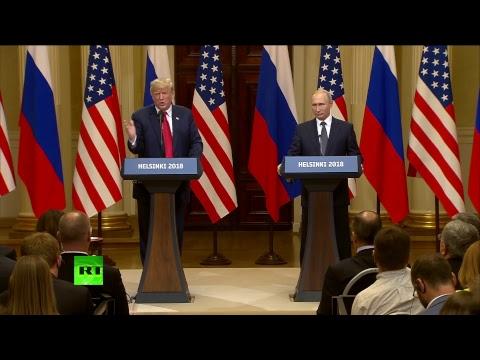Путин и Трамп подводят итоги переговоров в Хельсинки - DomaVideo.Ru