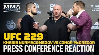 Video UFC 229: Khabib vs. McGregor New York Press Conference Reaction - MMA Fighting MP3, 3GP, MP4, WEBM, AVI, FLV Mei 2019