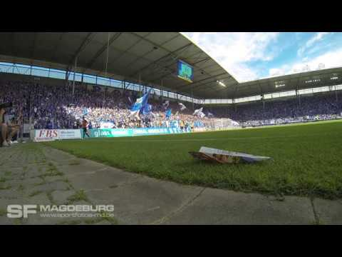 Video: Choreo+Stimmung 1. FC Magdeburg gegen Chemnitzer FC (HD Mai 2018)