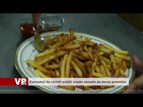 Consumul de cartofi prăjiți crește sansele de deces prematur