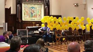 Nay Ye performed Tae Yang - Eyes Nose lips song during Believe in Bendigo Yellow Tie dinner at St Paul Cathedral 2017.