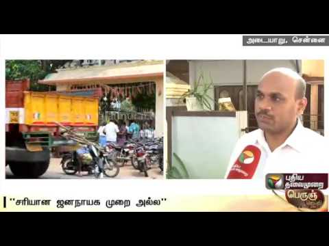 Senthil-arumugam-Satta-Panchayat-Iyakkam-talks-about-trend-of-auctioning-local-body-posts