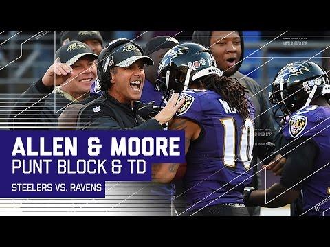Video: Ravens Block the Punt & Return It for a Huge TD!   Steelers vs. Ravens   NFL