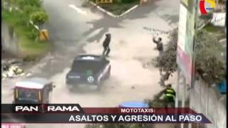 Mototaxis: asaltos y agresión al paso