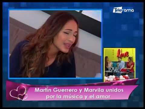 Martín Guerrero y Marvila unidos por la música y el amor