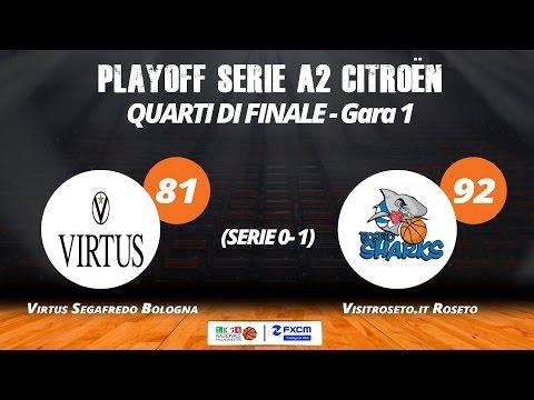 A2 Playoff – Quarti Gara1, gli highlights di Virtus-Roseto