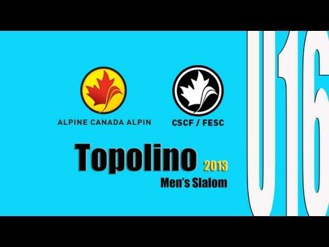 Men's Slalom Race U16 Topolino 2013