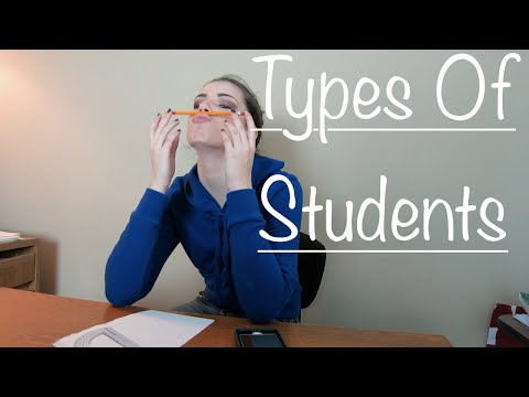 "different types of college students ""different types of college students"" you have just graduated from high school and have passed the standards of the academic tests you're administered your junior year of hs before that coveted last year arrives."