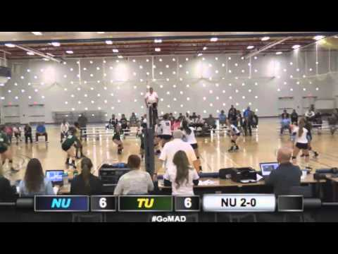 Northwood Volleyball - NU 3, Tiffin 0 (10/10/15)