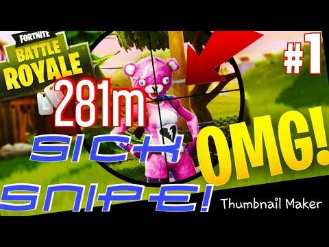Longest Snipe? 281m snipe Fortnite Battle Royale