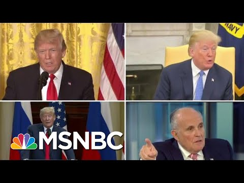 Rudy Giuliani Backtracks, No Longer Denies Campaign Collusion | MTP Daily | MSNBC