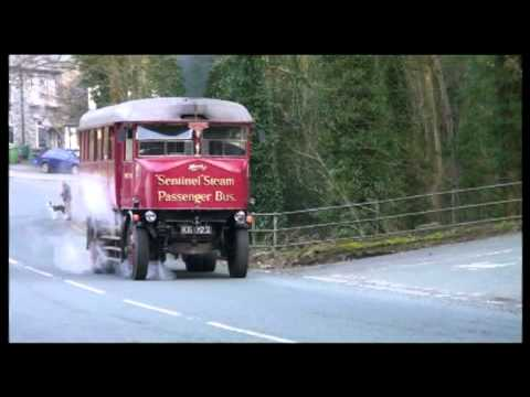 Steam Bus Tackles Steep Hill