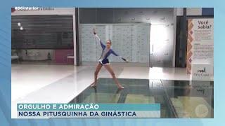 Shopping cede espaço para ginasta participar de competição on-line, local está fechado por conta da