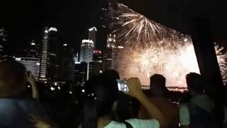 Welcoming the new year in Marina Bay Sands Singapore