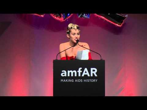 Miley Cyrus Receives the 2015 amfAR Award of Inspiration