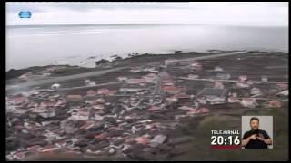 Um acidente de viação na Ilha do Corvo, nos Açores, provocou um morto e cinco feridos. Uma viatura de turismo com sete pessoas despistou-se e caiu de uma ribanceira de 15 metros de altura