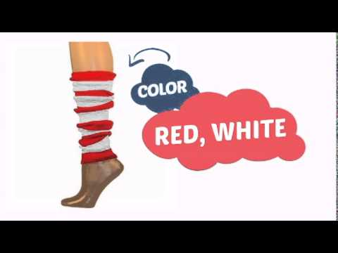tubered - See our great product here http://www.clownantics.com/arm/small-leg-warmers-16/striped-arm-warmers-tube-red/white-16?utm_source=youtube&utm_medium=video&utm_...