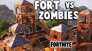 Defend the EPIC Fort vs Huge ZOMBIE ATTACK! (Fortnite Multiplayer Gameplay Part 1)