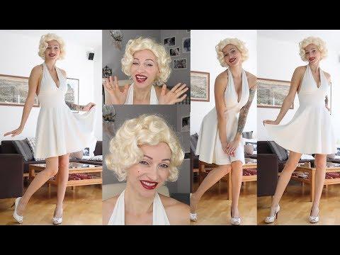 DIY Marilyn Monroe Costume Halloween 2017