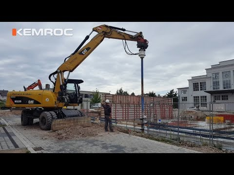 Video Youtube - Excavating foundations for posts using KEMROC auger drive