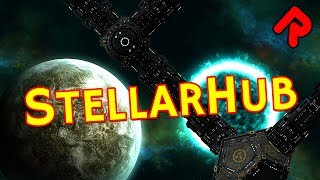 Let's play StellarHub! In this StellarHub gameplay video we build a space station, manage our crew and try to fight off killer ...