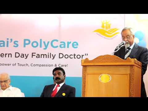 Dr.R.Baker proposes vote of Thanks at the launch of Covai's PolyCare