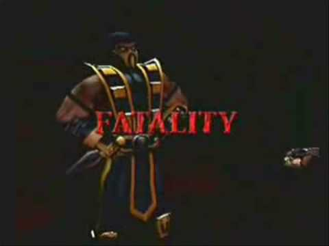 Fatality - A compilation of all of Scorpion's Fatalities from Mortal Kombat 1, 2, Ultimate 3, Trilogy, 4 / Gold, Deadly Alliance, Deception, Shaolin Monks and Versus DC...