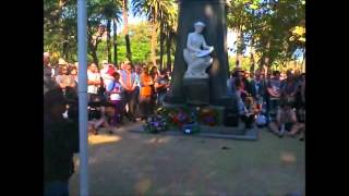 Hello, a large crowd and many public dignitaries paid their respects to fallen 'Black Anzacs'. LEST WE FORGET.   Best regards. Nicholas. P.S. Apologies for a rather lengthy, camera shaky, haphazardly videoed, somewhat disjointed unedited visual survey of this very respectful event..